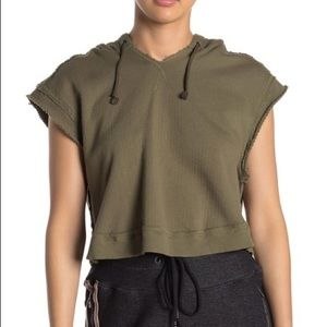 Free People Movement Cropped Sleeveless Hoodie